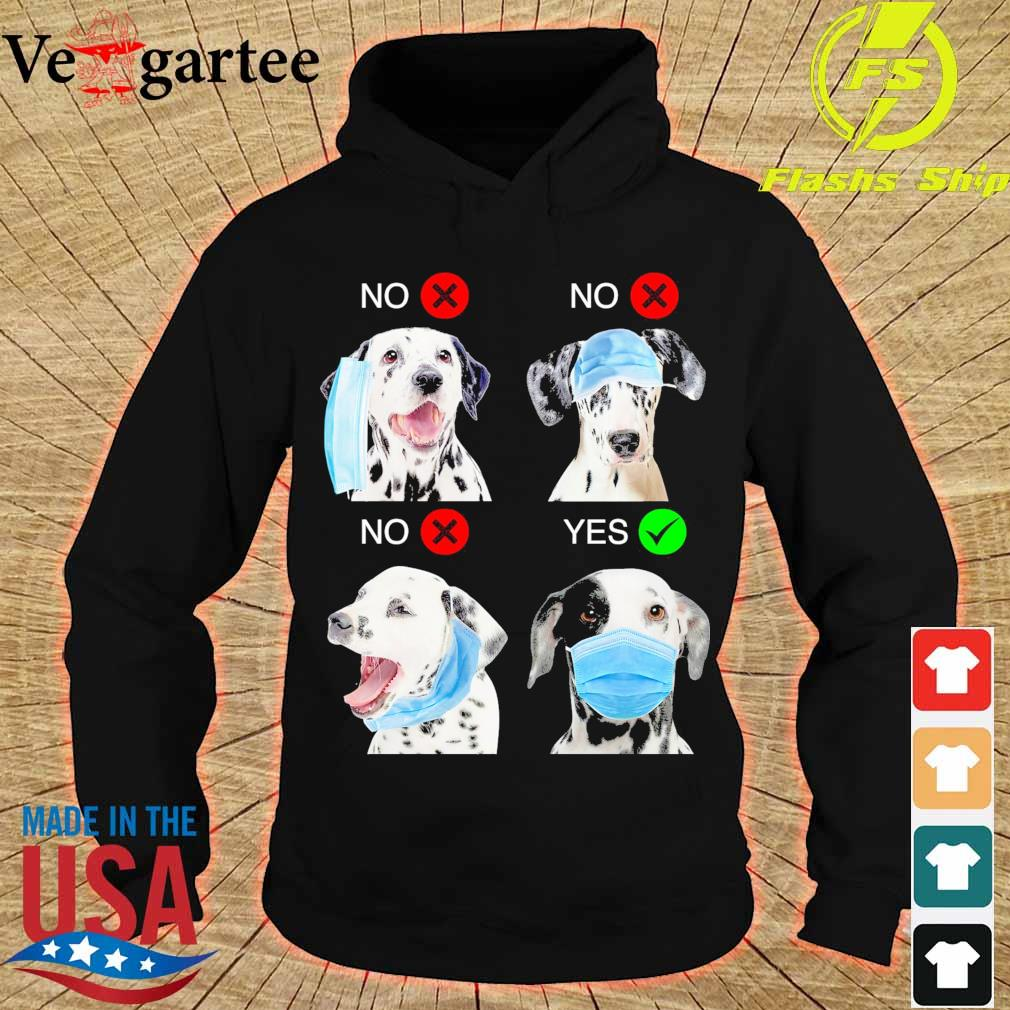 Dalmatian Right Way To Wear Mask s hoodie