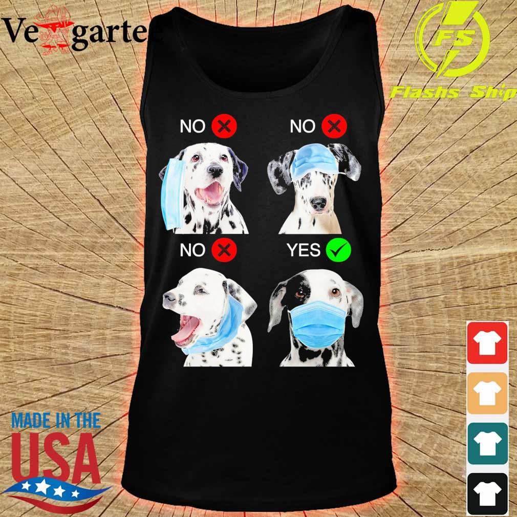 Dalmatian Right Way To Wear Mask s tank top