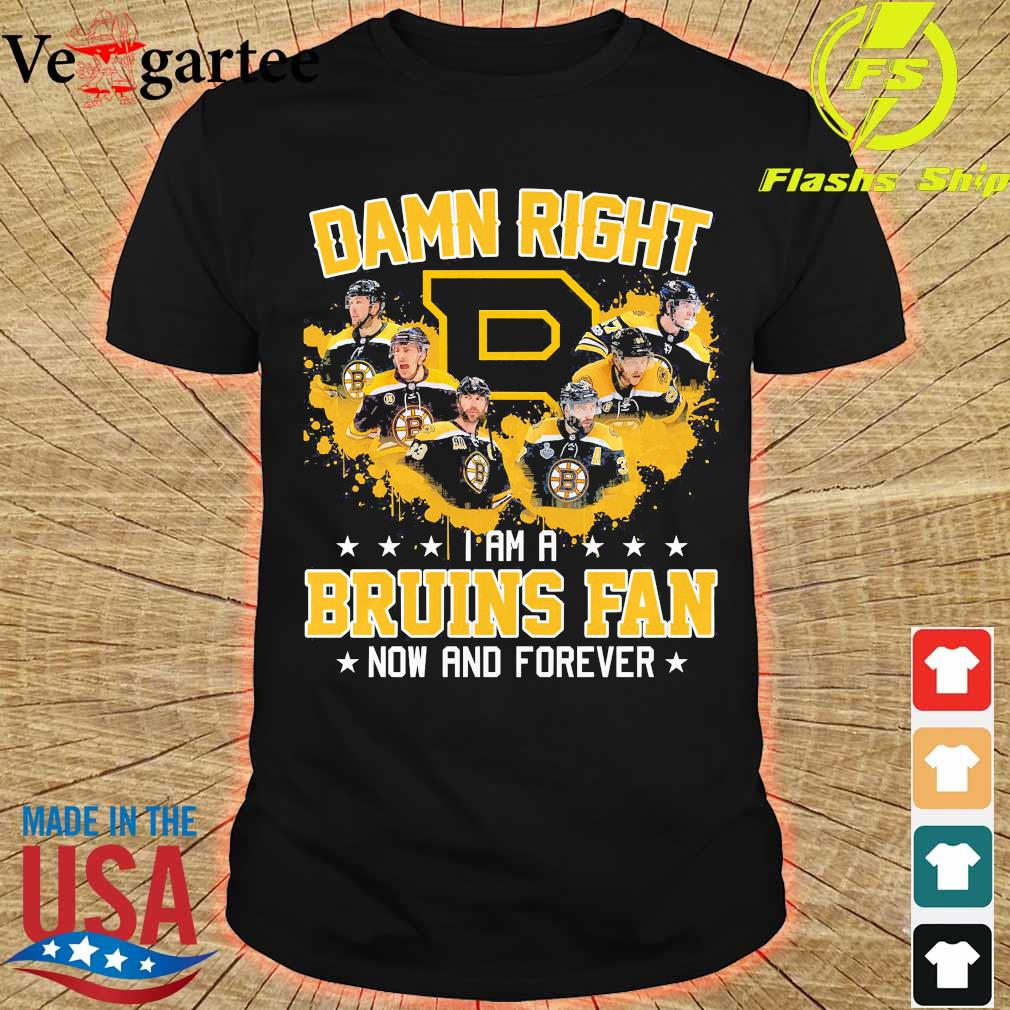 Damn right I am a Bruins fan now and forever shirt