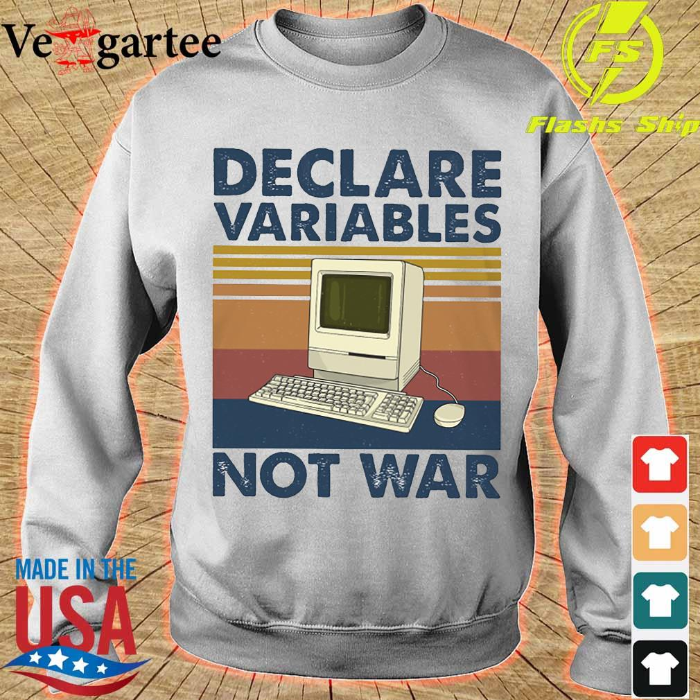 Declare variables not war vintage s sweater