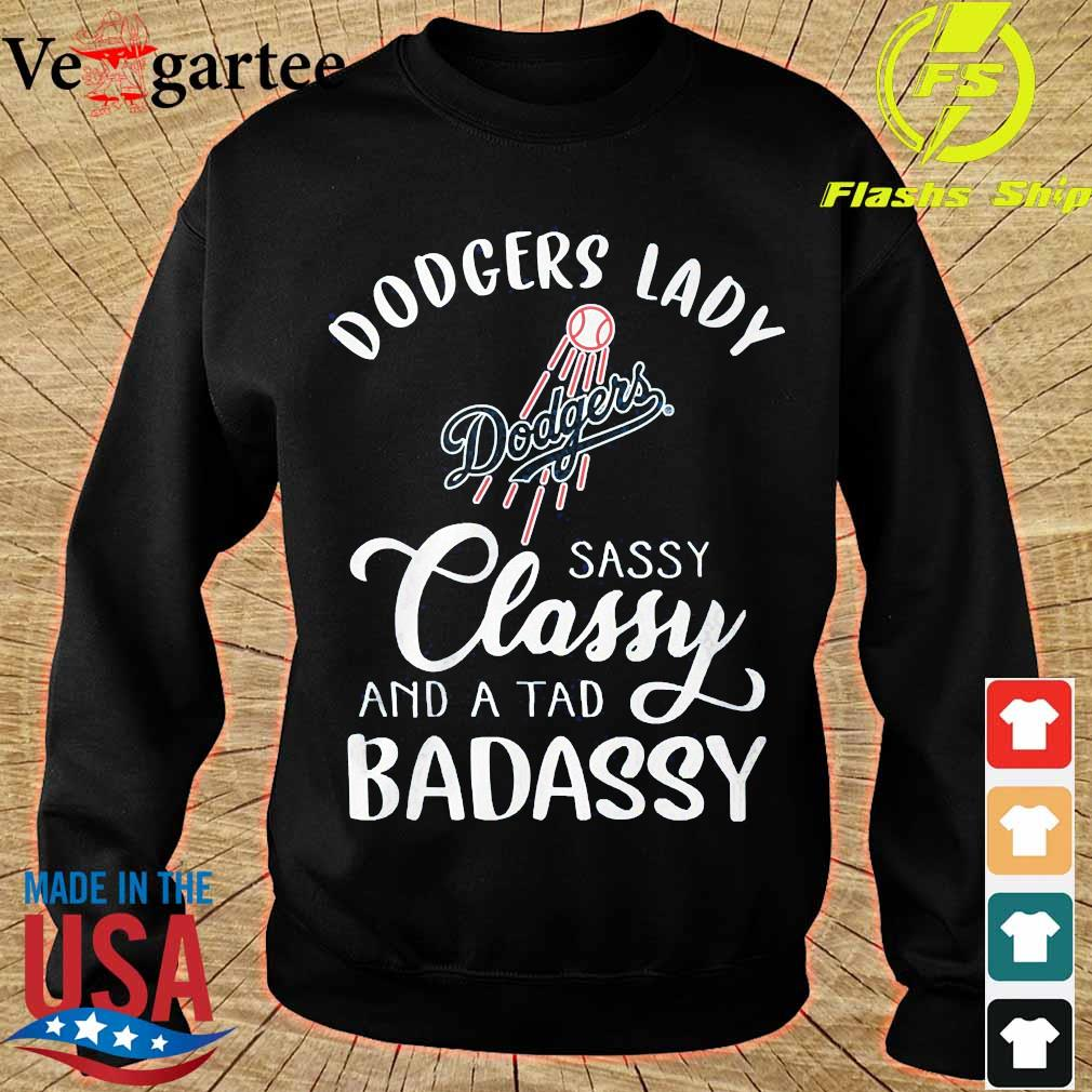 Dodgers lady sassy classy and a tad bad assy s sweater