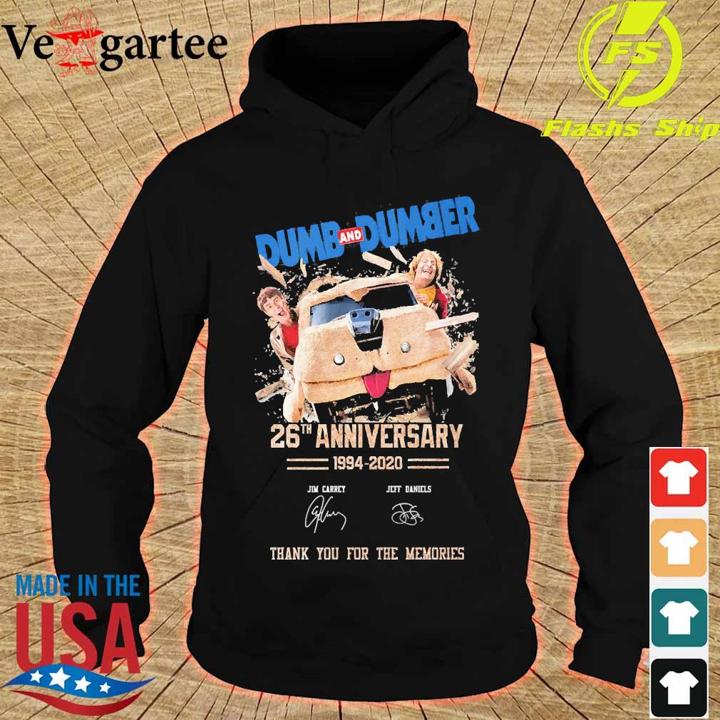 Dumb and Dumber 26th anniversary 1994 2020 thank You for the memories signatures s hoodie