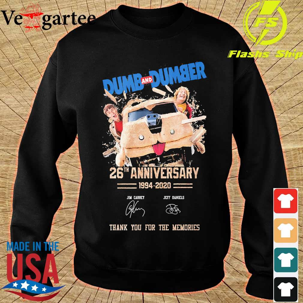 Dumb and Dumber 26th anniversary 1994 2020 thank You for the memories signatures s sweater