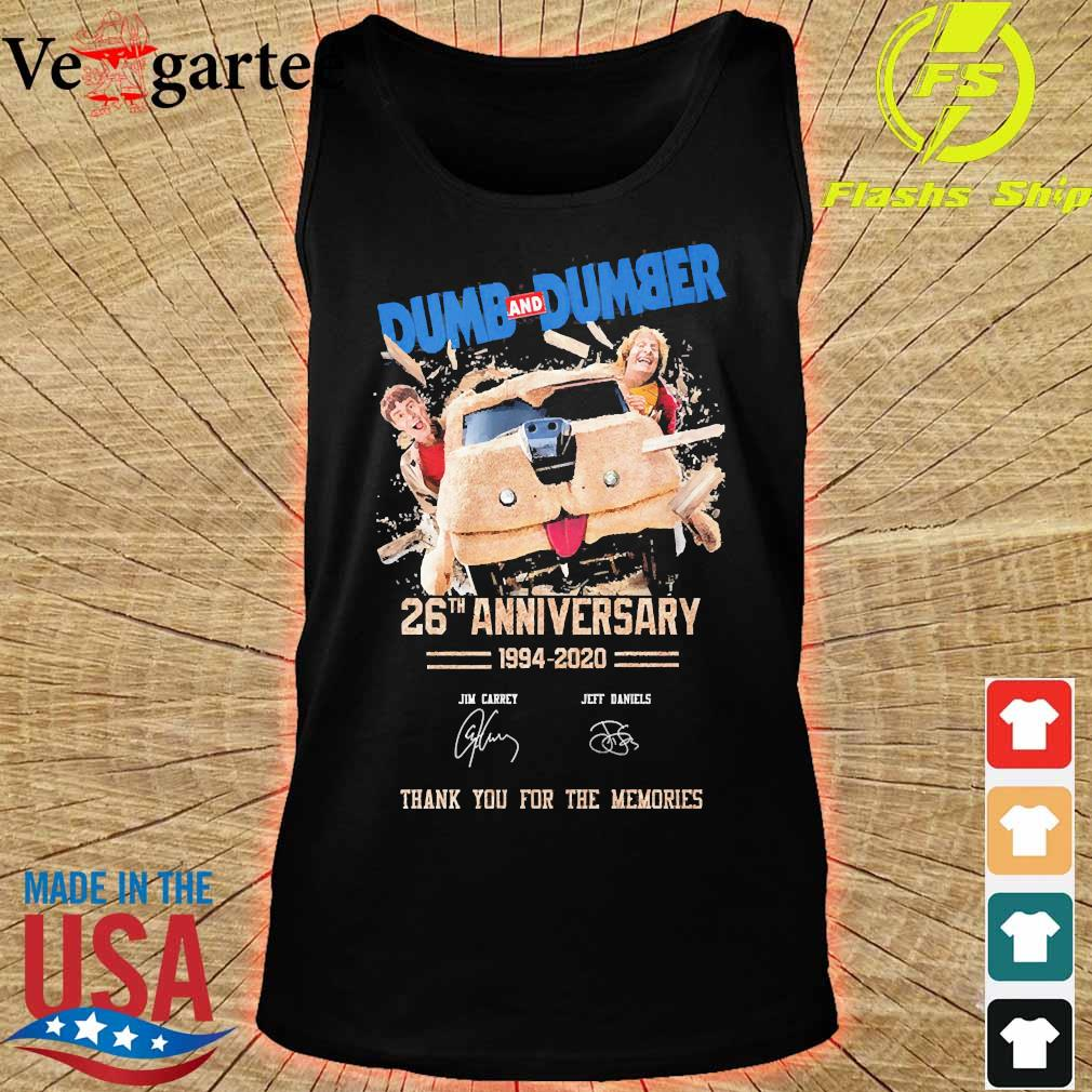 Dumb and Dumber 26th anniversary 1994 2020 thank You for the memories signatures s tank top