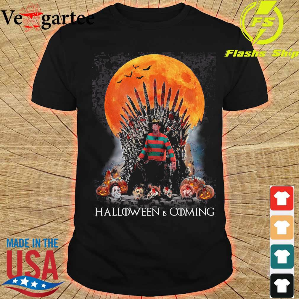 Game of Thrones Freddy Krueger Halloween is coming shirt