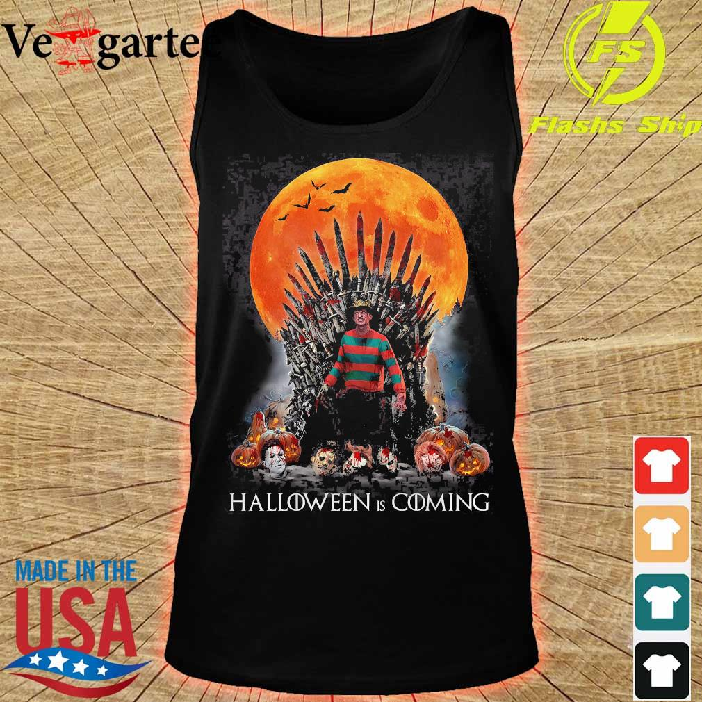 Game of Thrones Freddy Krueger Halloween is coming s tank top