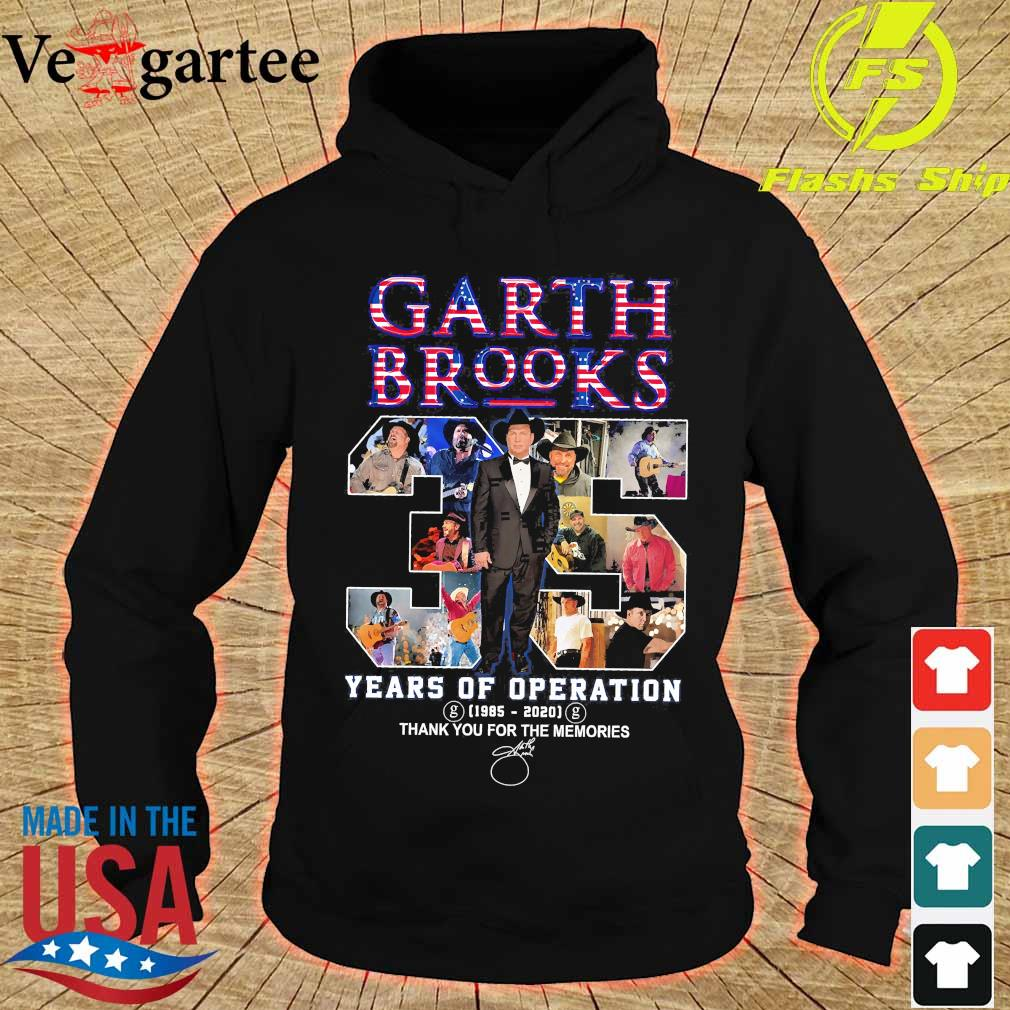 Garth Brooks 35 years of operation 1985 2020 thank You for the memories signature s hoodie