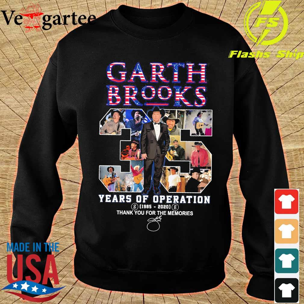 Garth Brooks 35 years of operation 1985 2020 thank You for the memories signature s sweater