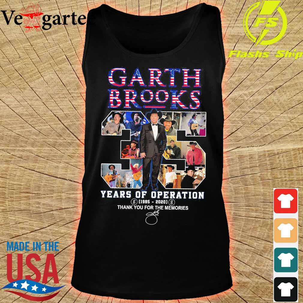 Garth Brooks 35 years of operation 1985 2020 thank You for the memories signature s tank top