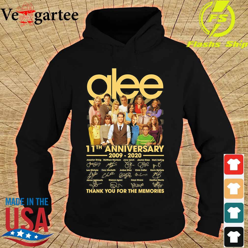 Glee 11th anniversary 2009 2020 thank You for the memories signatures s hoodie
