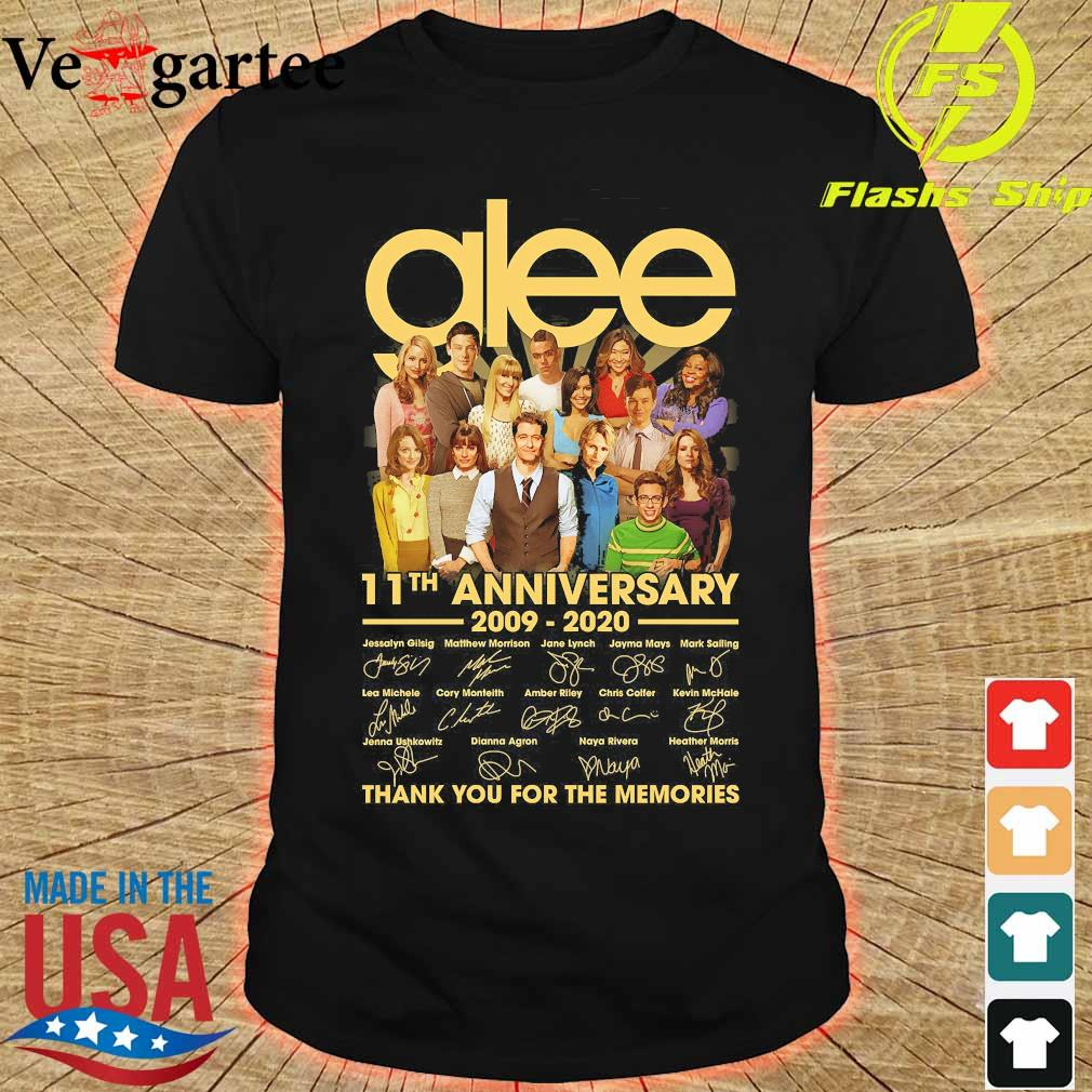 Glee 11th anniversary 2009 2020 thank You for the memories signatures shirt