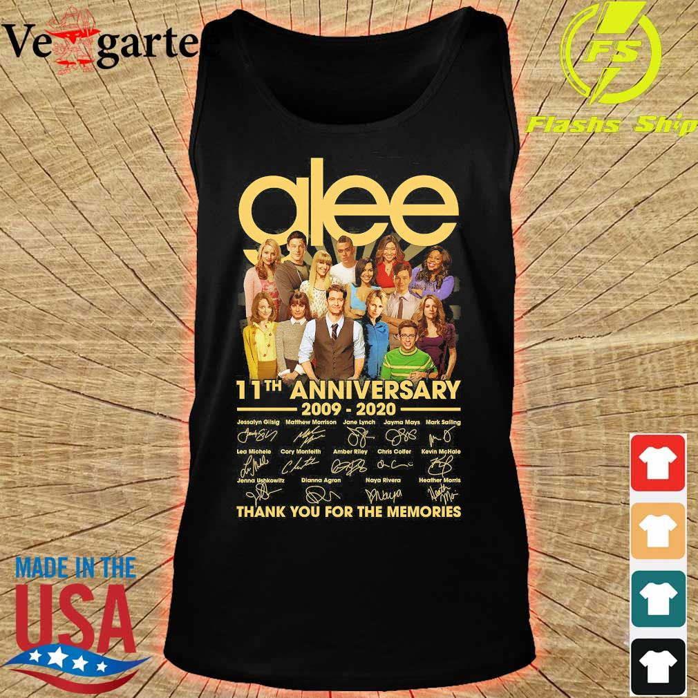 Glee 11th anniversary 2009 2020 thank You for the memories signatures s tank top