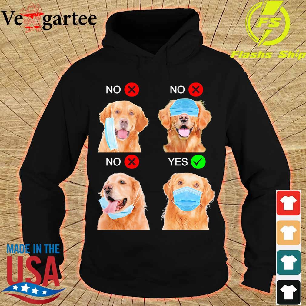 Golden Retriever Right Way To Wear Mask s hoodie