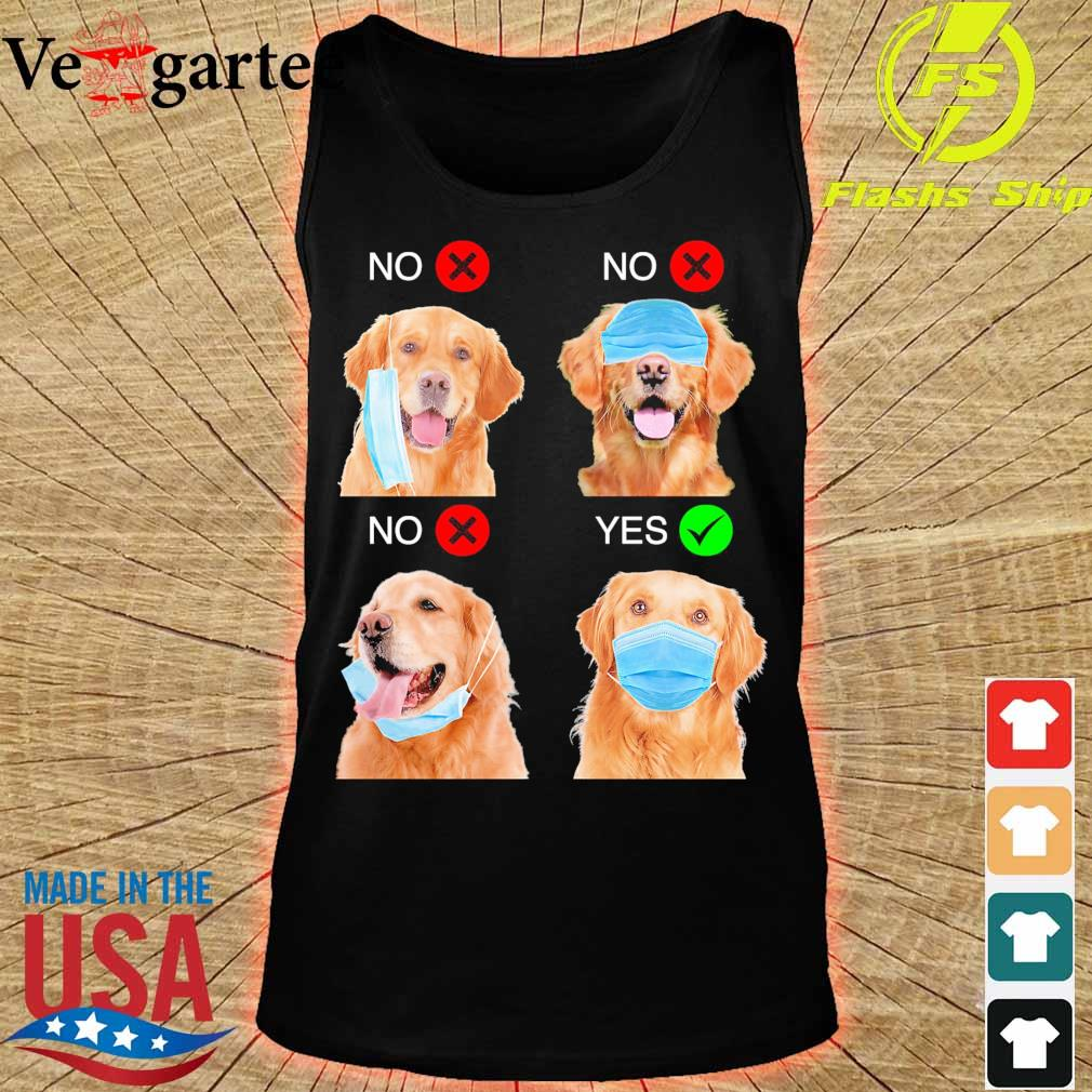 Golden Retriever Right Way To Wear Mask s tank top