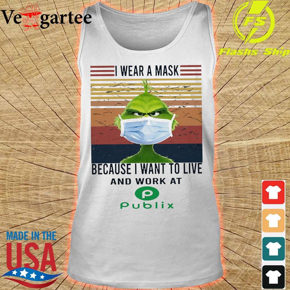 Grinch I wear a mask because I want to live to work at Piblix vintage s tank top