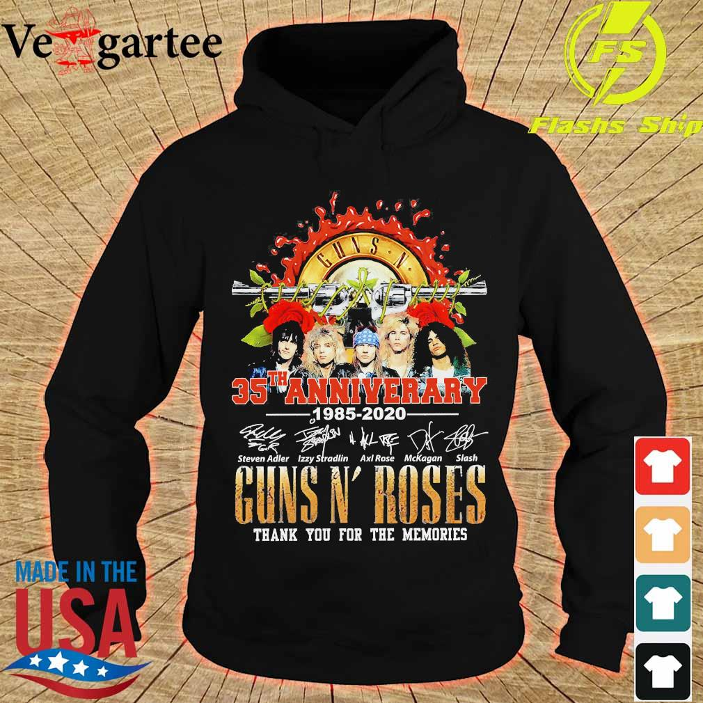Guns N' Roses 35th anniversary thank You for the memories signatures s hoodie