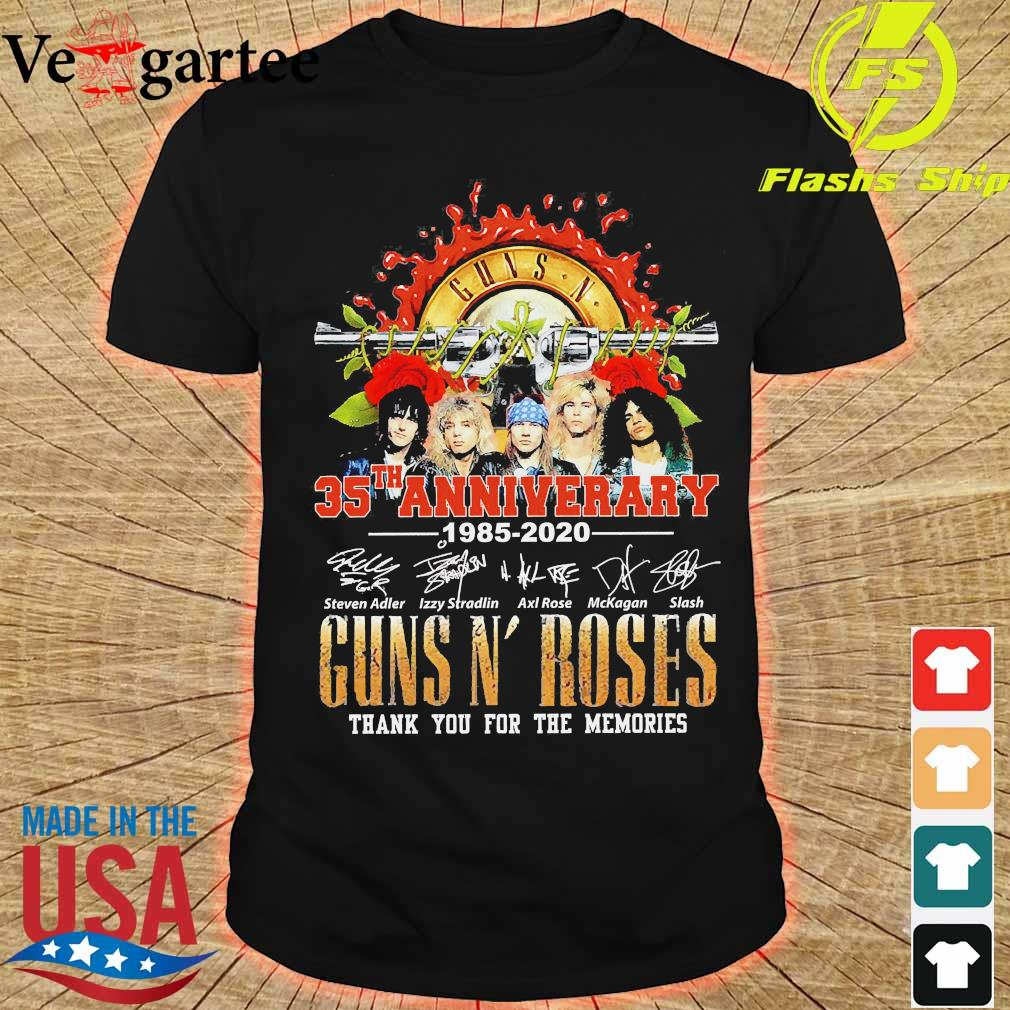 Guns N' Roses 35th anniversary thank You for the memories signatures shirt