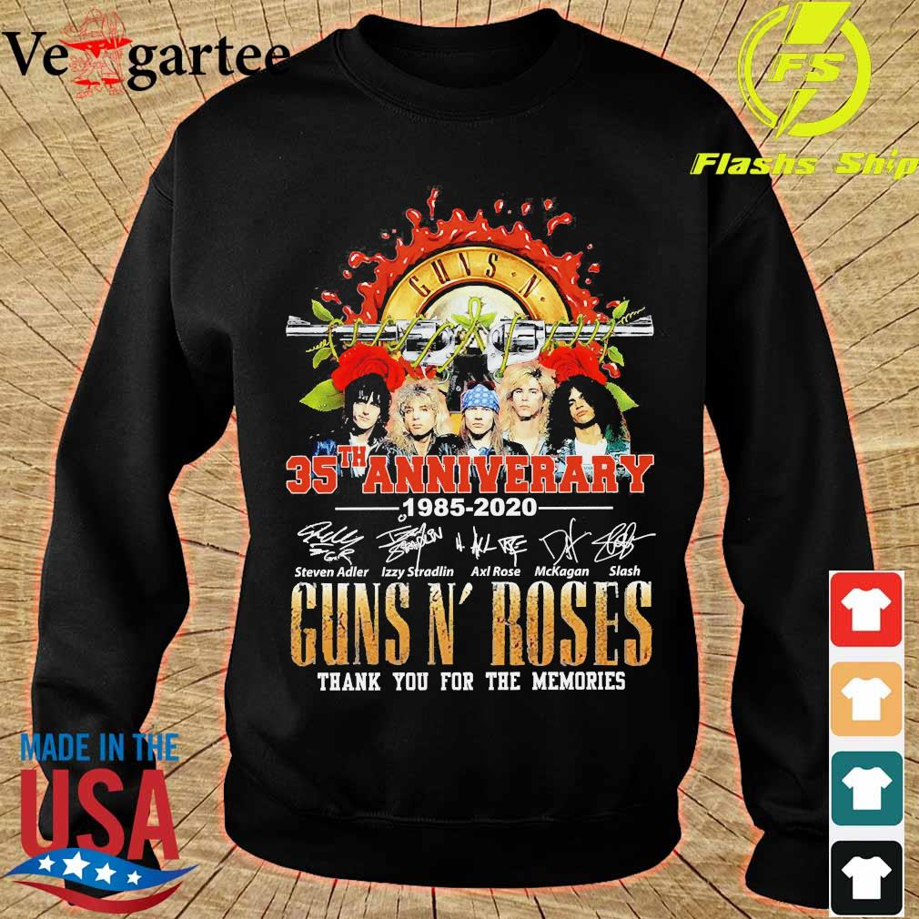Guns N' Roses 35th anniversary thank You for the memories signatures s sweater
