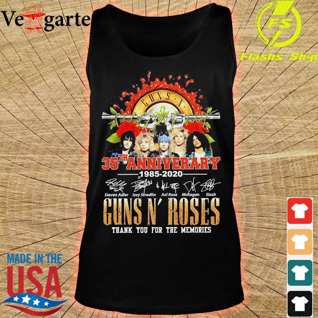 Guns N' Roses 35th anniversary thank You for the memories signatures s tank top