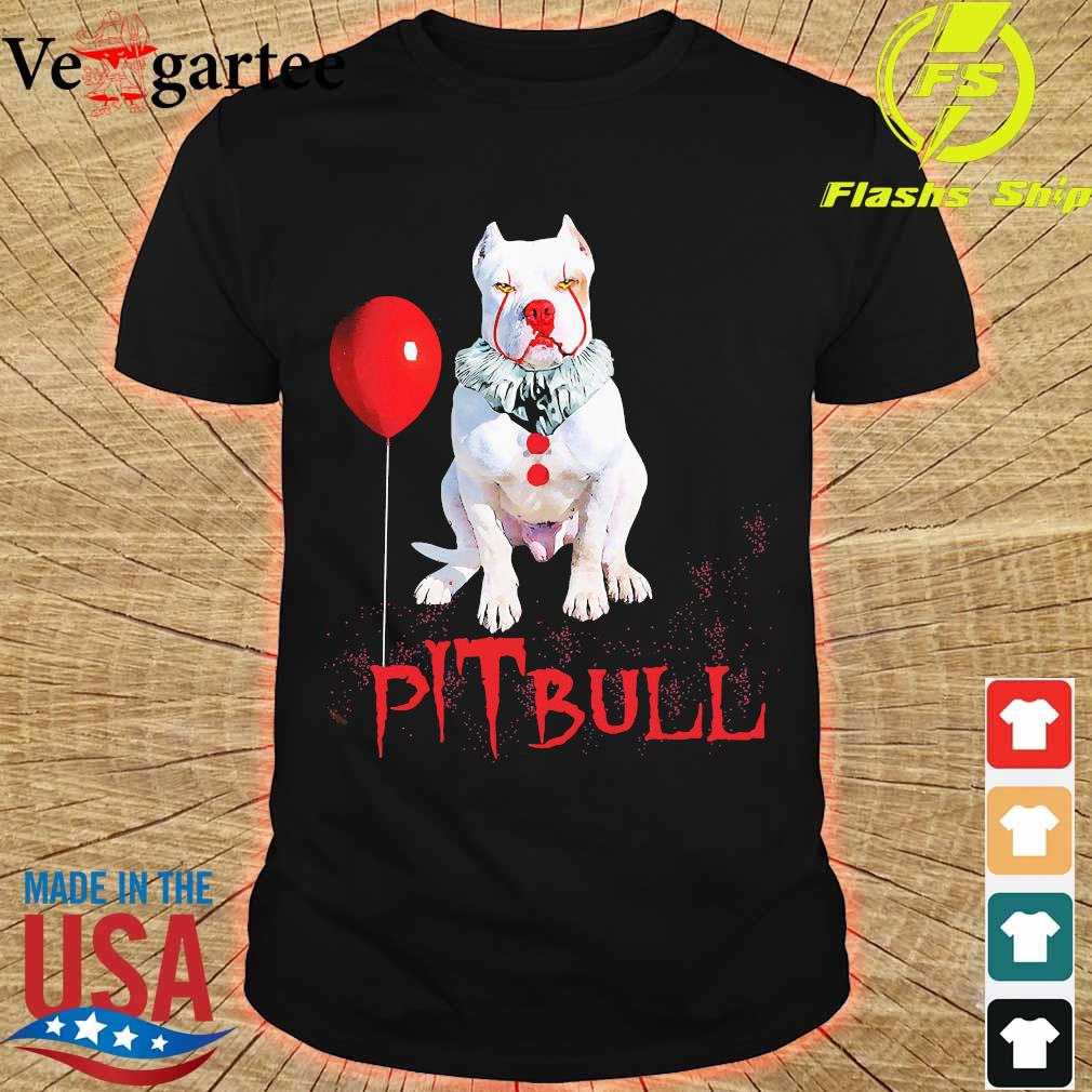 Halloween Stephen king IT Pitbull shirt