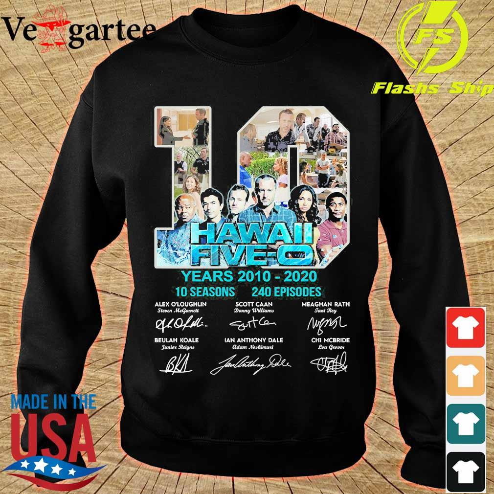 Hawaii Five-O 10 years 2010 2020 10 seasons 240 episodes signature s sweater