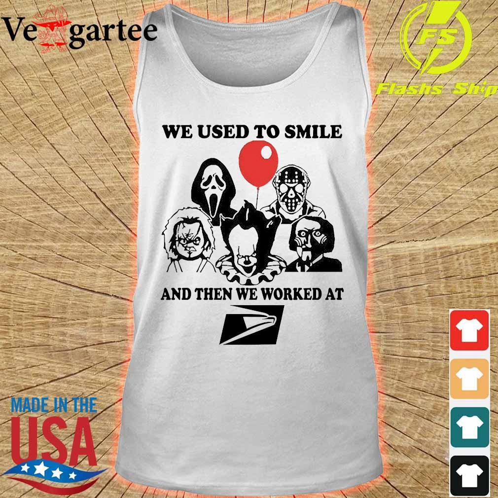 Horror character We used to smile and then We worked at United States Postal Service s tank top