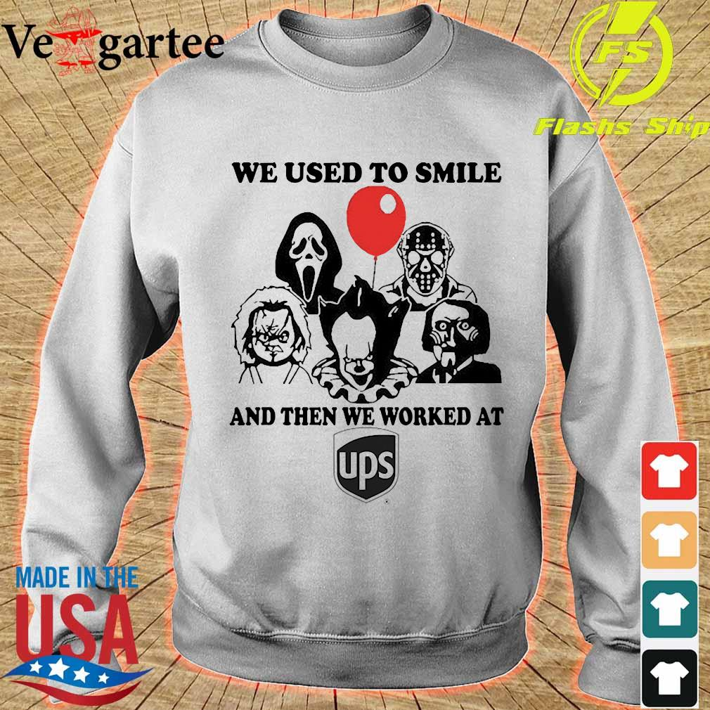 Horror character We used to smile and then We worked at UPS s sweater