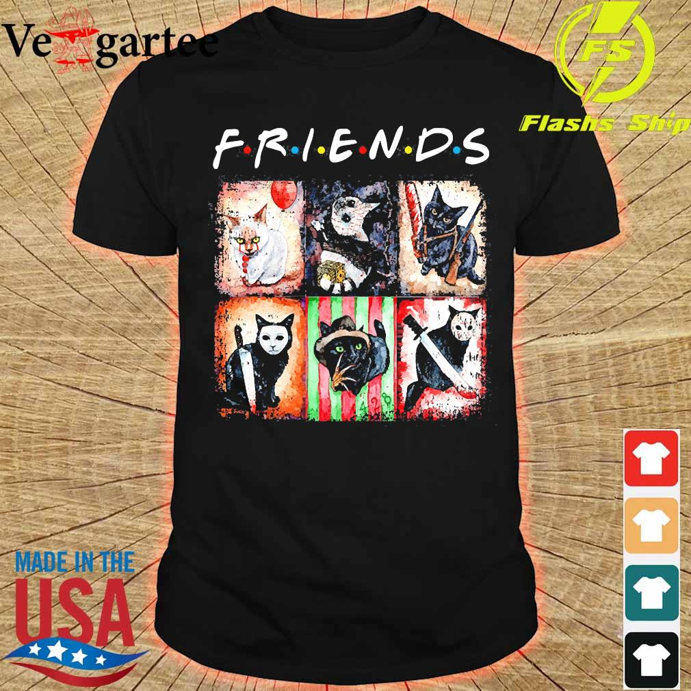 Horror characters cat version Friends shirt