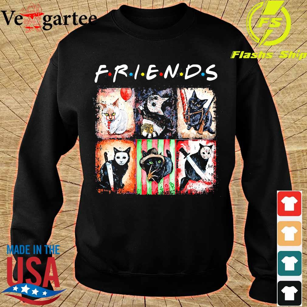 Horror characters cat version Friends s sweater