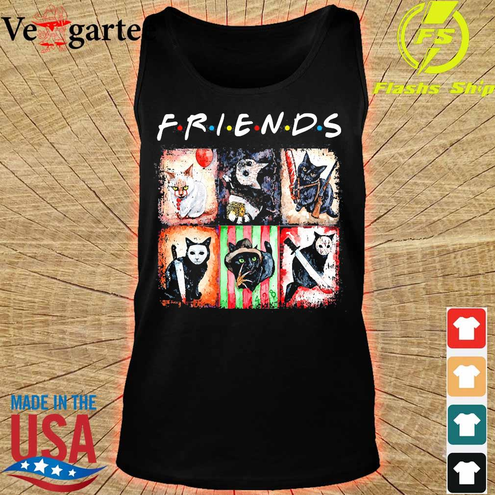 Horror characters cat version Friends s tank top