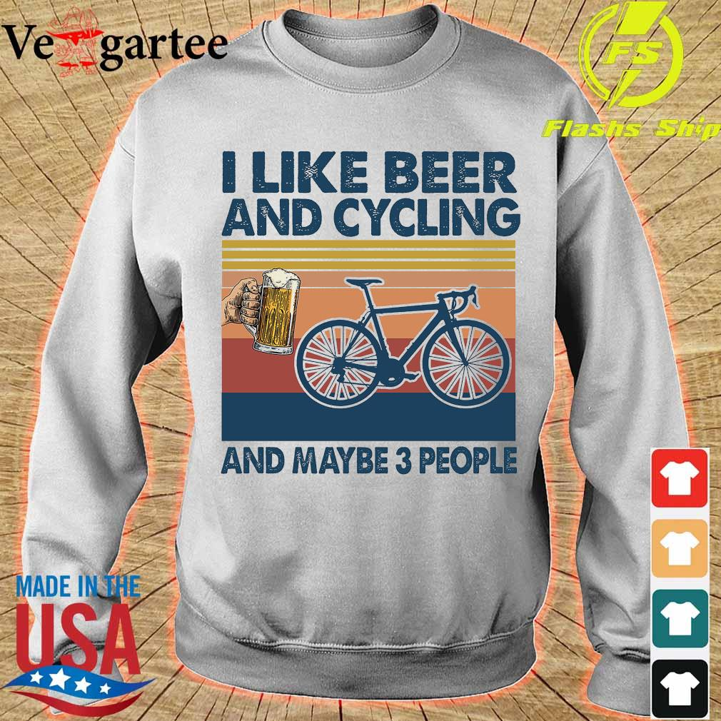 I like beer and cycling maybe 3 people vintage s sweater