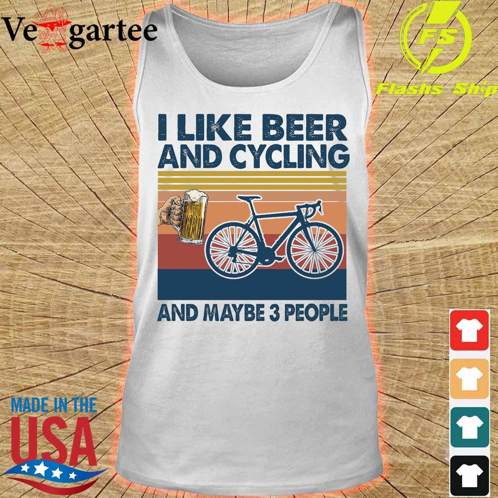 I like beer and cycling maybe 3 people vintage s tank top
