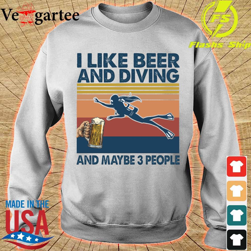 I like beer and diving maybe 3 people vintage s sweater