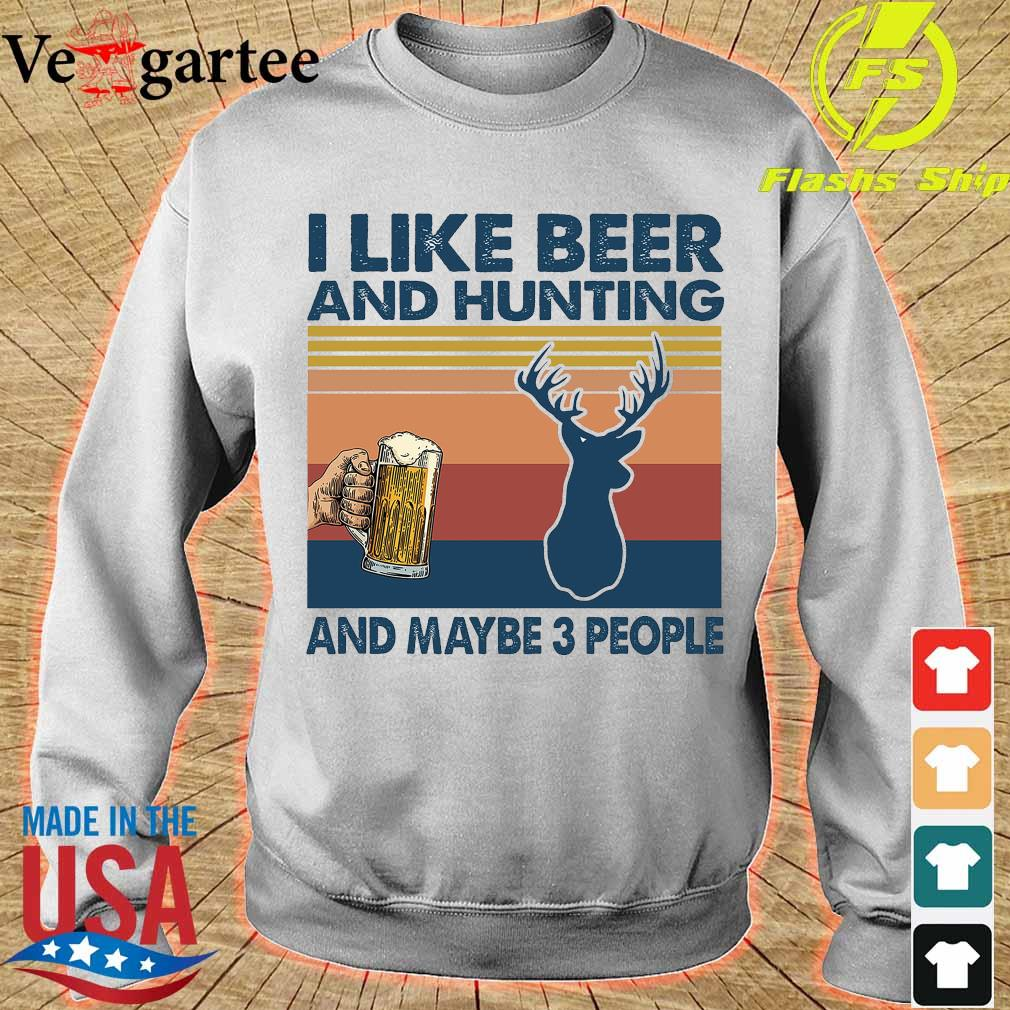 I like beer and hunting maybe 3 people vintage s sweater