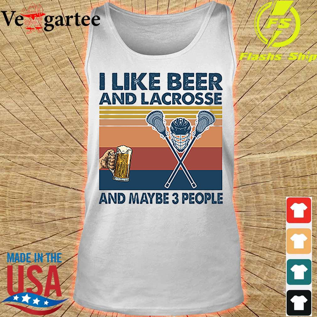 I like beer and Lacrosse and maybe 3 people vintage s tank top