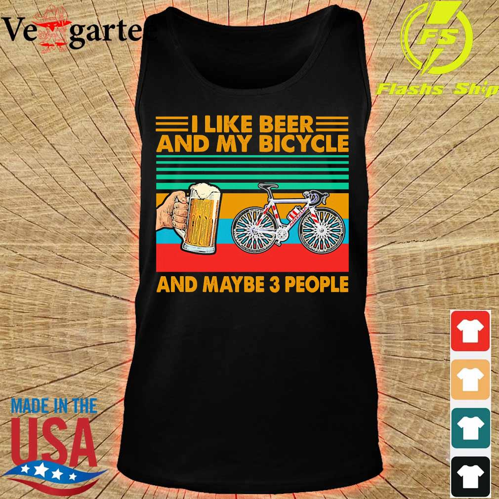 I like beer and my bicycle and maybe 3 people vintage s tank top