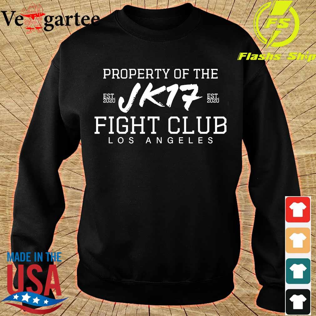 Joe Kelly Property of the Jk17 fight club Los Angeles s sweater