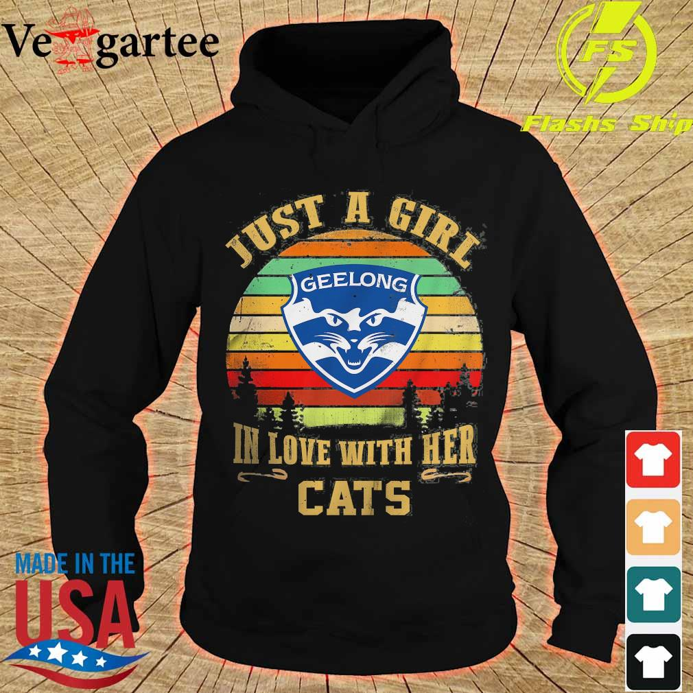 Just a girl in loves with her Cats vintage s hoodie