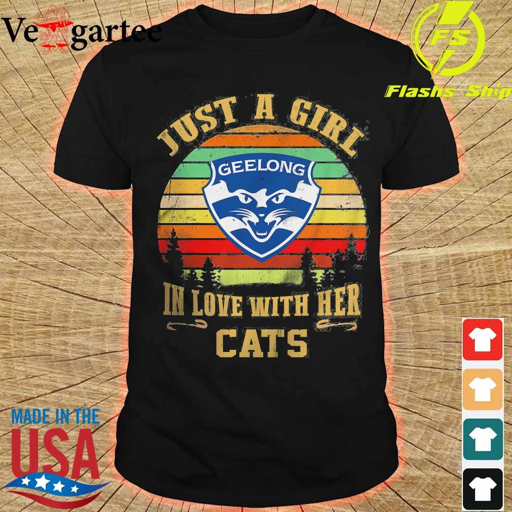 Just a girl in loves with her Cats vintage shirt