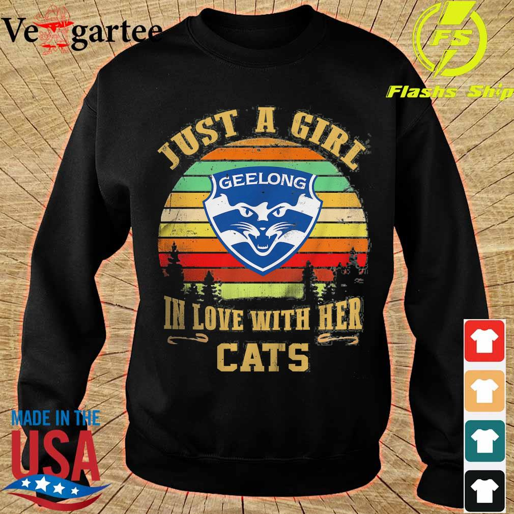 Just a girl in loves with her Cats vintage s sweater