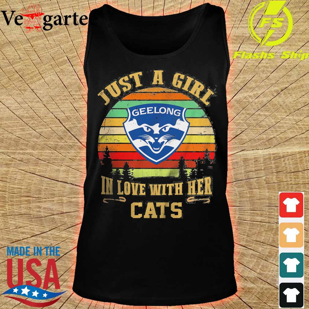 Just a girl in loves with her Cats vintage s tank top