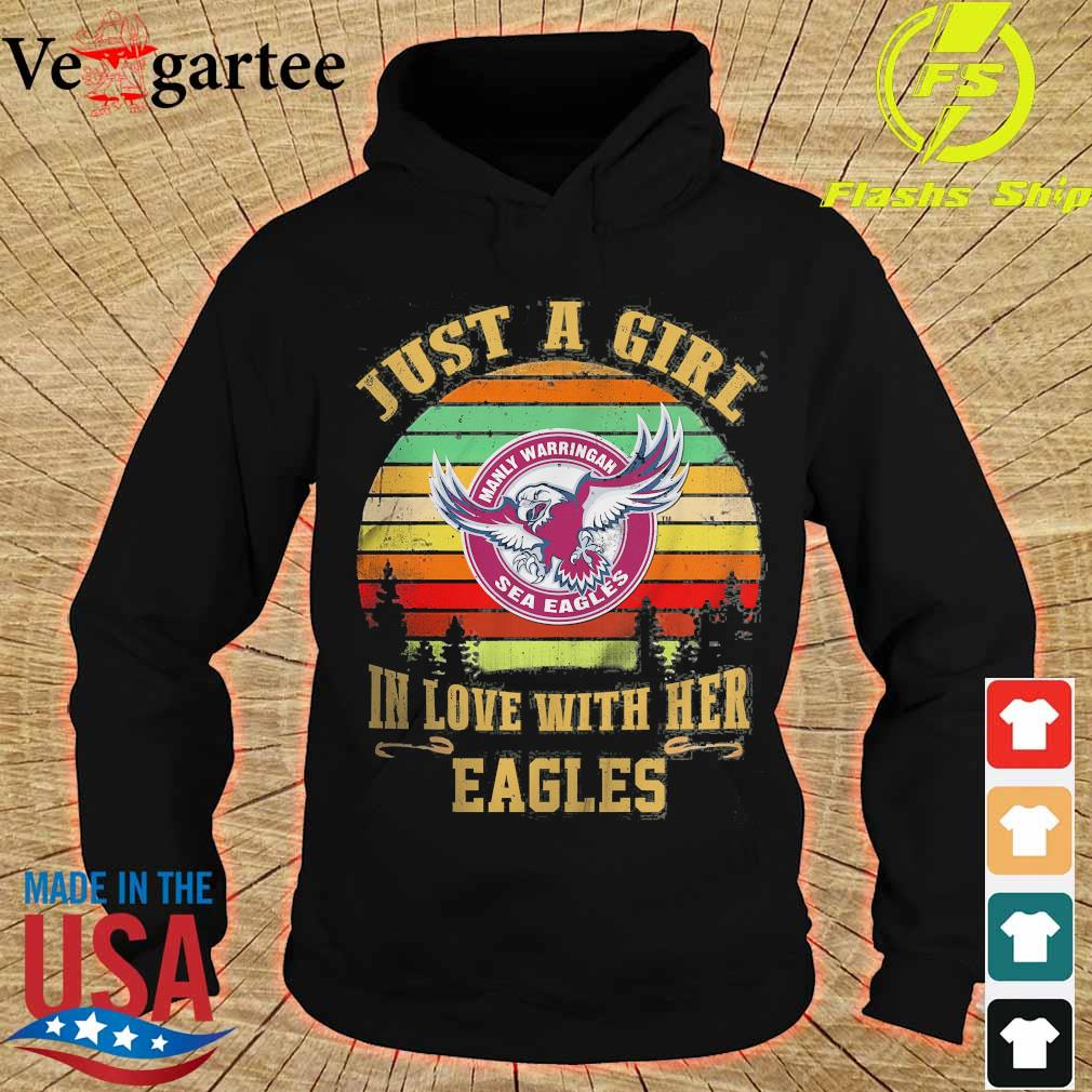 Just a girl in loves with her Eagles vintage s hoodie