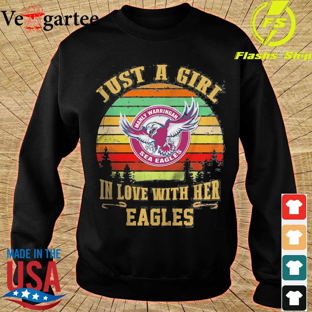 Just a girl in loves with her Eagles vintage s sweater