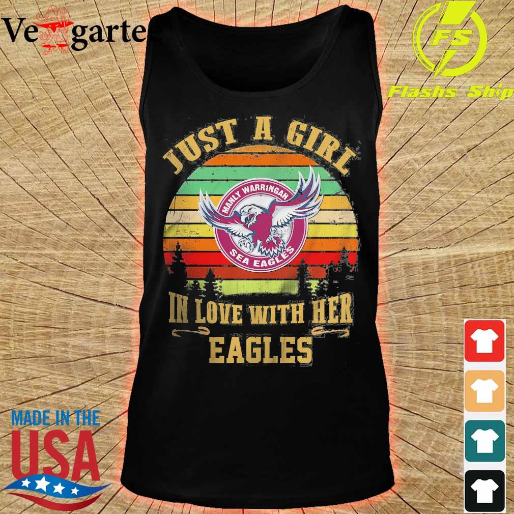 Just a girl in loves with her Eagles vintage s tank top
