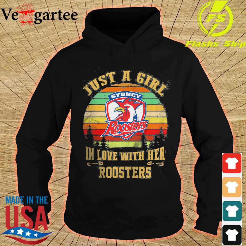 Just a girl in loves with her Roosters vintage s hoodie