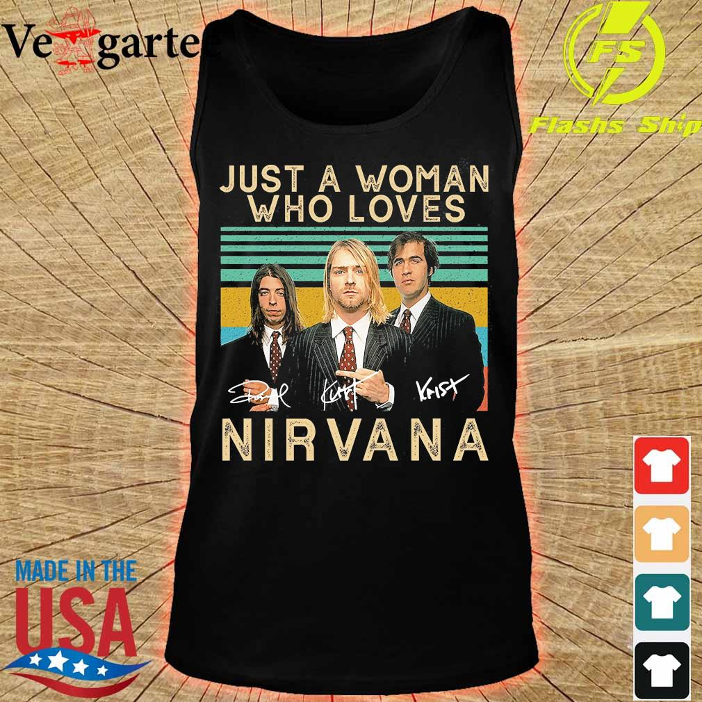 Just a woman who loves Nirvana signatures vintage s tank top