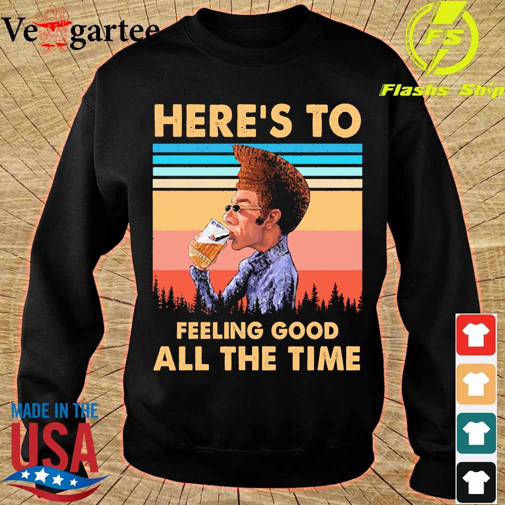 Kramer Here's to feeling good all the time vintage s sweater