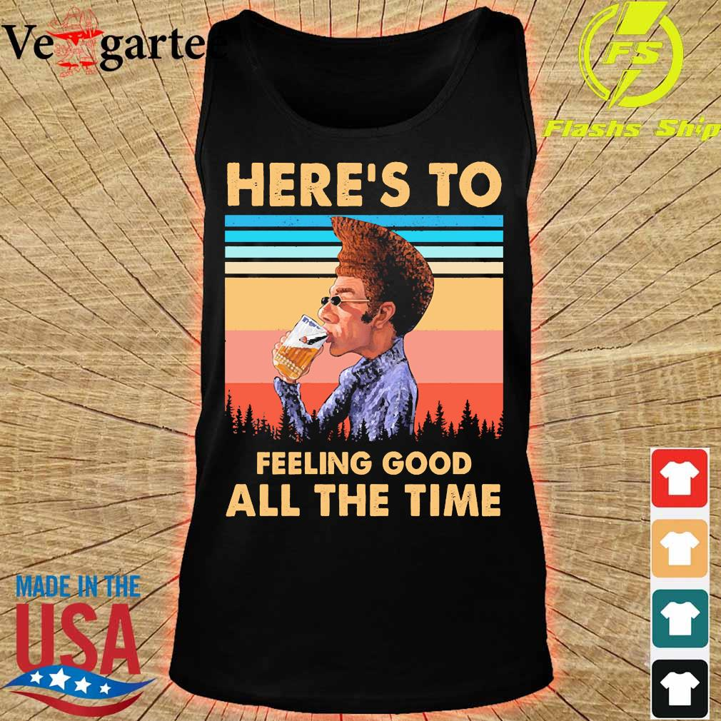 Kramer Here's to feeling good all the time vintage s tank top
