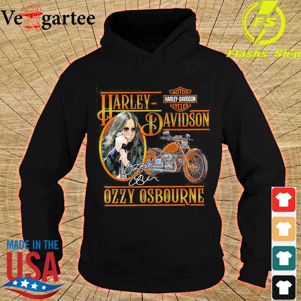 Motor Harley Davidson Cycles Ozzy Osbourne signature s hoodie
