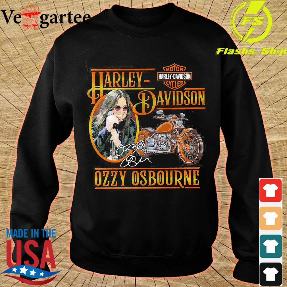 Motor Harley Davidson Cycles Ozzy Osbourne signature s sweater